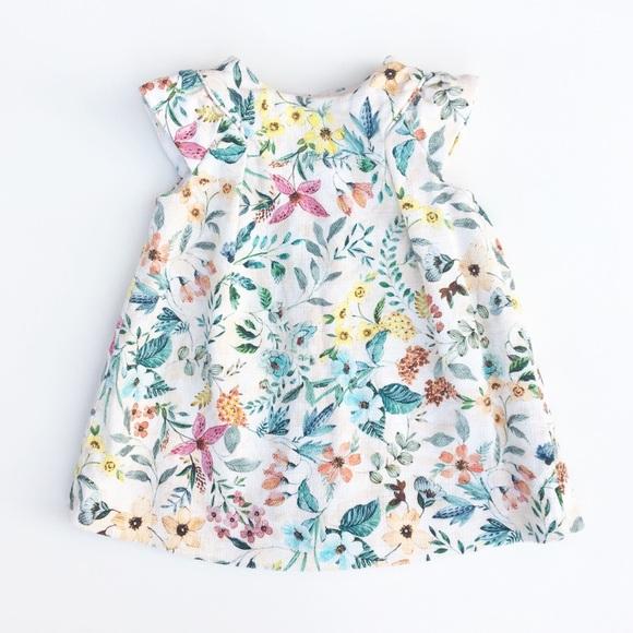 48b29fad05201 ZARA baby girl floral print dress